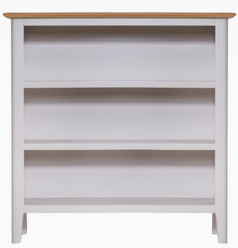 Scandia Grey Low Wide Bookcase